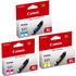 Canon CLI-551XL C/M/Y Original High Capacity Colour Ink Cartridge 3 Pack
