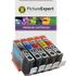 Canon PGI-72 MBK/C/M/Y/R Compatible Ink Cartridge Multipack