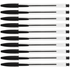 Clear Black Ballpoint Pen (10 Pack)