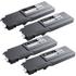 Dell 593-11119/22/21/20 (BK/C/M/Y) Original High Capacity Toner Cartridge Multipack