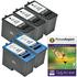 Dell M4640 / M4646 Compatible Black & Colour 5 Ink Cartridge Pack + Photo Paper