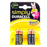 Duracell 4 Pack Simply AAA Batteries