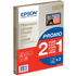 Epson C13S042169 Original A4 Premium Glossy Photo Paper - (2 for 1) total of 30 Sheets
