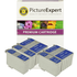Epson T026 / T027 Compatible Black & Colour Ink Cartridge 5 Pack