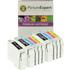 Epson T0321/T0422/T0423/T0424 Compatible Black & Colour Ink Cartridge 9 Pack