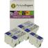 Epson T036/T037 Compatible Black & Colour Ink Cartridge 5 Pack