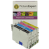 Epson T0445 Compatible Black & Colour Ink Cartridge 4 Pack