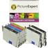 Epson T0445 Compatible Black & Colour Ink Cartridge 6 Pack