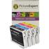 Epson T0615 Compatible Black & Colour Ink Cartridge 4 Pack