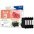 Epson T0715 Peach Compatible Black & Colour Ink Cartridge 4 Pack