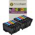Epson T0807 Compatible Black & Colour Ink Cartridge 12 Pack