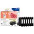 Epson T0807 Peach Compatible Black & Colour Ink Cartridge 6 Pack