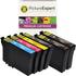 Epson T1285 Compatible Black & Colour Ink Cartridge 6 Pack