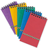 Europa Minor 120 Page Wirebound Ruled 80gsm Notepad with Elasticated Strap (127mm x 76mm) Assorted (3 Pack)