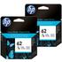 HP 62 ( C2P06AE ) Original Colour Ink Cartridge Twin Pack