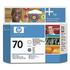 HP 70 ( C9410A ) Original Gloss Enhancer and Grey Printhead