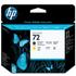 HP 72 ( C9384A ) Original Matte Black and Yellow Printhead