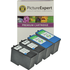 Lexmark 14 Compatible Black x 2 & 15 Compatible Colour x 2 Ink Cartridges