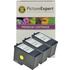 Lexmark 2 / 18CX190E / 18C0190E x3 Compatible Colour Ink Cartridges