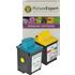 Lexmark 50 / 17G0050 & 20 / 15M0120 Compatible Black & Colour Ink Cartridge Pack