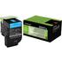 Lexmark 80C2HC0 (802HC) Original High Capacity Cyan Toner Cartridge