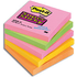 Post it Super Sticky Neon Rainbow Notes (76mm x76mm) (5 Pack)