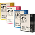 Ricoh GC41 (B/C/M/Y) Original Black & Colour Gel Cartridge Multipack