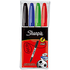 Sharpie 4 Pack Assorted Fine Marker Pens