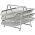 Silver Mesh 3 Tier Letter Tray