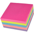 Sticky Notes Neon Rainbow Cube Pad of 400 Sheets (75mm x 75mm)