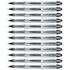 Uni-ball UB200 Black Rollerball Vision Elite Liquid Ink Pen (0.6mm Tip) (12 Pack)