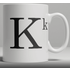 Alphabet Ceramic Mug - Letter K