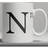 Alphabet Ceramic Mug - Letter N