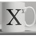 Alphabet Ceramic Mug - Letter X