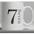 Alphabet Ceramic Mug - Number 7