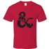 Dungeons & Dragons - Ampersand T-Shirt - Red - S - Red