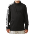 Adidas Boys 3 Stripe 1/2 zip Jacket - Black