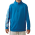 Adidas Boys 3 Stripe 1/2 zip Jacket - Blue