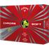Callaway Chrome Soft Truvis Yellow Golf Balls - 1 Dozen
