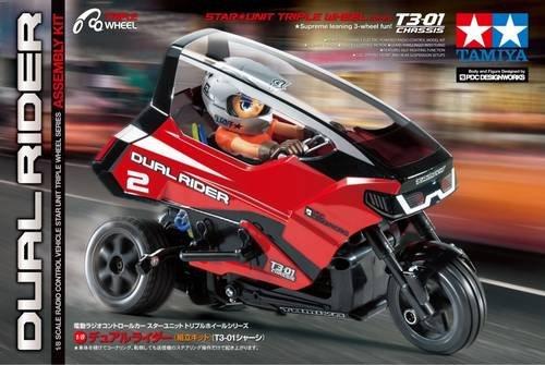 Tamiya Dual Trike T3-01 Brushed 1:8 RC Motorrad Elektro Trike Heckantrieb (2WD) Bausatz