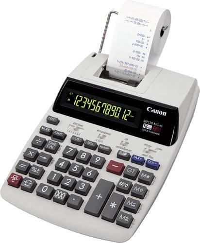 Canon MP120-MG-es II Druckender Tischrechner Weiß Display (Stellen): 12 netzbetrieben (B x H x T) 2