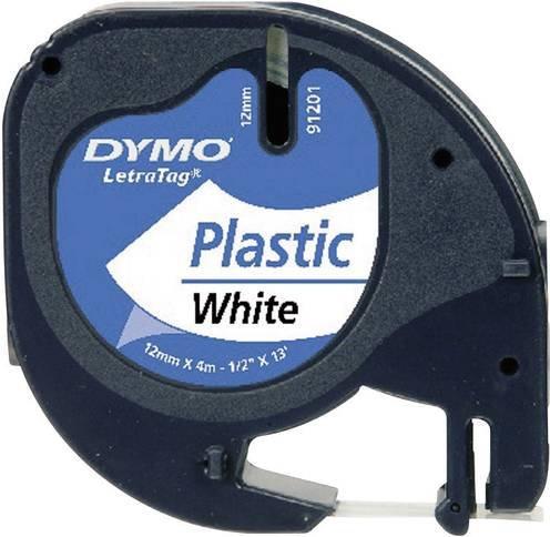 DYMO 91221 Schriftband Bandfarbe: Perlweiß Schriftfarbe: Schwarz 12mm 4m
