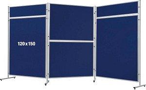 FRANKEN ECO, doppelseitig Stellwand blau 120,0 x 150,0 cm