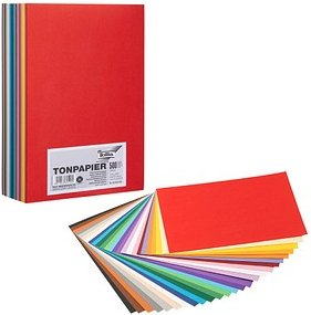 folia Tonpapier farbsortiert DIN A4 130 g/qm