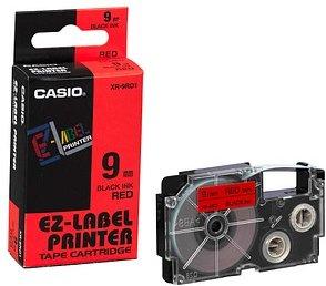 CASIO Beschriftungsband XR-9RD schwarz auf rot 9 mm