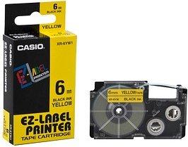 CASIO Beschriftungsband XR-6YW schwarz auf gelb 6 mm