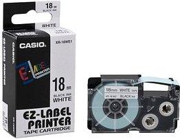 CASIO Beschriftungsband XR-18WE schwarz auf weiß 18 mm