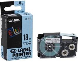 CASIO Beschriftungsband XR-18X schwarz auf transparent 18 mm