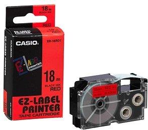 CASIO Beschriftungsband XR-18RD schwarz auf rot 18 mm