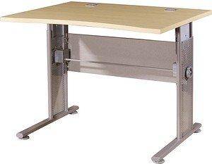 GERMANIA   Profi höhenverstellbarer Schreibtisch ahorn rechteckig